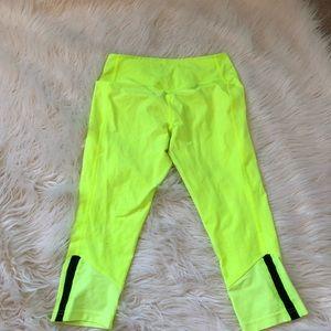 Nike neon dry fit yoga running pants size medium